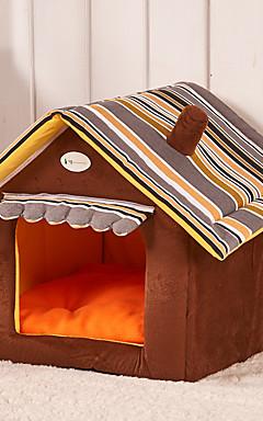 رخيصةأون -قط كلب مرتبة السرير الأسرّة بطانيات السرير خيمة كهف السرير بيت الحيوانات الأليفة قطيفة حيوانات أليفة الحصير والوسادات كارتون قابلة للطى ناعم أخضر أزرق زهري