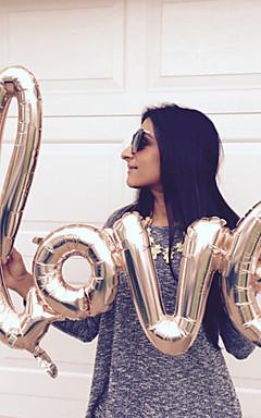 رخيصةأون -1PC الحروف المركبة الحب بالونات احباط الذهب بالونات الحب بالونات الحب العازبة حزب ستا لوازم الزفاف الديكور عيد ميلاد