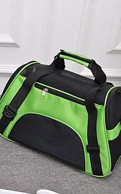 رخيصةأون -قط كلب حقيبة ظهر حيوانات أليفة حاملات المحمول متنفس قابلة للطى لون سادة أرجواني أخضر أزرق