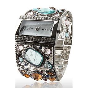 billige Bohemeure-Dame Luksus Ure Armbåndsur Diamond Watch Quartz Sølv Afslappet Ur Analog Damer Glitrende Armring Mode