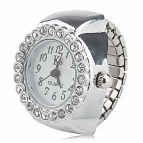 billige Ringeklokker-Dame Ringur Diamond Watch Japansk Quartz Sølv Afslappet Ur Analog Damer Glitrende Mode