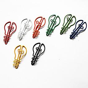 Недорогие Канцелярия-стиль лампы красочные скрепки (случайный цвет, 10 шт)