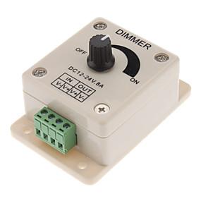 billige Strømafbrydere og stik-dc12-24v 8a pwm manuel knap dimmer controller, 0% -100% pwm dimming kontrol, lysstyret LED dimmer switch til 5050/3528 enkelt farve led strips, bånd lys, tape lys eller andre ledede produkter