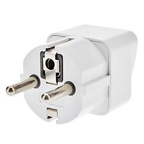 Χαμηλού Κόστους Περιφερειακά αξεσουάρ υπολογιστών-ΕΕ ταξιδιού AC Power Adapter Λευκό