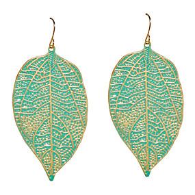 levne Šperky&Hodinky-Dámské Visací náušnice Leaf Shape Náušnice Šperky Zelená / Růžová Pro Denní
