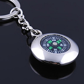 economico Stampe e regali personalizzati-Portachiavi personalizzato rotonda bussola regalo inciso a forma di