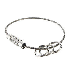 cheap Toy & Game-EDC Steel Ring Outdoor Keychian