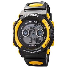 billige Sportsklokker-Dame Sportsklokke Digital Watch Quartz Digital Gummi Svart Digital Sjarm Mote - Gul Rød Blå To år Batteri Levetid / Maxell626 + 2025