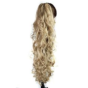 ieftine Machiaj & Îngrijire Unghii-Coadă de cal Păr Sintetic Fir de păr Extensie de păr Buclat / Kinky Curly Zilnic / Blond / Blond