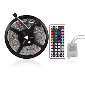 cheap Daily Deals-ZDM 5M 300 x 2835 RGB LED Strips Light Flexible and IR 44Key Remote Control   Linkable  Self-adhesive  Color-Changing