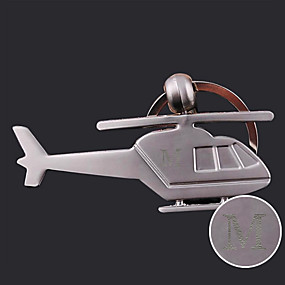 economico Stampe e regali personalizzati-Personalizzato inciso regalo creativo elicottero a forma di portachiavi