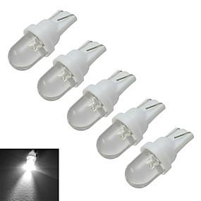 billige Andet LED-lys-5pcs 0.5 W Dekorationslampe 30 lm T10 1 LED Perler Kold hvid 12 V / 5 stk.