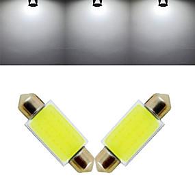 levne Ostatní LED osvětlení-3 W Ozdobná světla 1000 lm 12 LED korálky COB Chladná bílá 12 V / 2 ks / RoHs / CCC