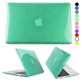 billige Apple-tilbehør-MacBook Etui Ensfarvet / Transparent Plast for MacBook Air 11-tommer