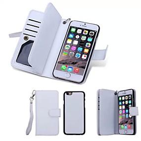 levne iPhone pouzdra-SHI CHENG DA Carcasă Pro Apple iPhone 8 / iPhone 8 Plus / iPhone 6 Plus Peněženka / Pouzdro na karty / Flip Celý kryt Jednobarevné Pevné Pravá kůže pro iPhone 8 Plus / iPhone 8 / iPhone 6s Plus