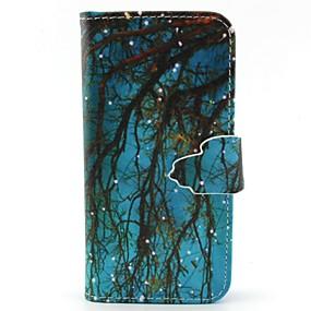 Недорогие Чехлы и кейсы для Galaxy S5 Mini-Кейс для Назначение SSamsung Galaxy S6 edge / S6 / S5 Mini Кошелек / Бумажник для карт / со стендом Чехол дерево Кожа PU