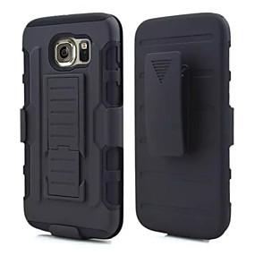 halpa Galaxy S4 kotelot / kuoret-Etui Käyttötarkoitus Samsung Galaxy Samsung Galaxy kotelo Iskunkestävä / Tuella Takakuori Panssari PC varten S6 edge / S6 / S5