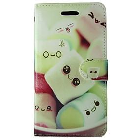 voordelige Huawei Honor hoesjes / covers-hoesje Voor Huawei Y550 / Huawei P8 / Huawei Honor 6 Huawei P8 Lite / Huawei P8 / Huawei P7 Portemonnee / Kaarthouder / met standaard Volledig hoesje Cartoon Hard PU-nahka