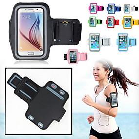 halpa Galaxy S -sarjan kotelot / kuoret-Etui Käyttötarkoitus Kansainvälinen Ikkunalla / Käsivarsinauha Käsivarsihihna Yhtenäinen Pehmeä tekstiili varten S5 / S4 / Note 4
