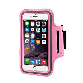 abordables Coques d'iPhone-Coque Pour iPhone 6s Plus / iPhone 6 Plus / iPhone 6s Avec Ouverture / Brassard Brassard Couleur Pleine Flexible Textile pour