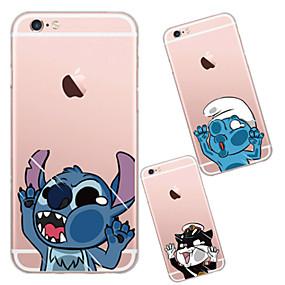 ieftine Apple-Maska Pentru Apple iPhone X / iPhone 8 / iPhone 6 Plus Transparent Capac Spate Desene Animate Moale TPU pentru iPhone X / iPhone 8 Plus / iPhone 8