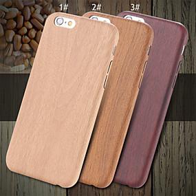 olcso iPhone tokok-Case Kompatibilitás Apple iPhone X / iPhone 8 / iPhone 8 Plus Ultra-vékeny Fekete tok Fa mintázat Kemény PU bőr mert iPhone X / iPhone 8 Plus / iPhone 8