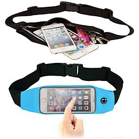 abordables Coques d'iPhone-Coque Pour iPhone 6s Plus / iPhone 6 Plus / Universel Avec Ouverture Petit sac Couleur Pleine Flexible Textile pour