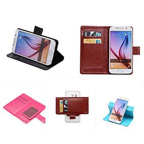 halpa Galaxy S -sarjan kotelot / kuoret-Etui Käyttötarkoitus Samsung Galaxy Samsung Galaxy kotelo Korttikotelo / Tuella / Flip Suojakuori Yhtenäinen PU-nahka varten S7 edge plus / S7 edge / S7
