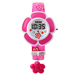 cheap Kids' Watches-Ladies Bracelet Watch Digital Quilted PU Leather Pink / Purple Digital Charm Fashion - Purple Pink Two Years Battery Life / Maxell626+2025