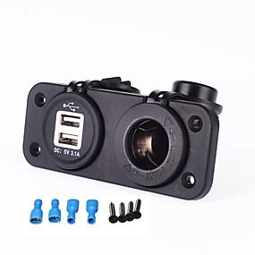 voordelige Autoladers-iztoss autolader 12-24v sigarettenaansteker 5v 3.1a dubbele usb-adapter voor motorfiets