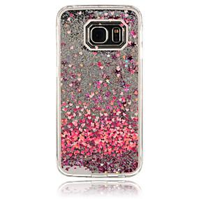 halpa Galaxy S4 kotelot / kuoret-Etui Käyttötarkoitus Samsung Galaxy Samsung Galaxy kotelo Virtaava neste Takakuori Sydän PC varten S6 edge / S6 / S5