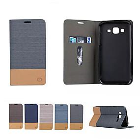 voordelige Galaxy A9(2016) Hoesjes / covers-hoesje Voor Samsung Galaxy A3 (2017) / A5 (2017) / A7 (2017) Kaarthouder / met standaard / Flip Volledig hoesje Effen Zacht PU-nahka