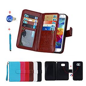 halpa Galaxy S -sarjan kotelot / kuoret-SHI CHENG DA Etui Käyttötarkoitus Samsung Galaxy Lomapkko / Korttikotelo / Tuella Suojakuori Yhtenäinen Kova PU-nahka varten S6 edge plus / S6 edge / S5