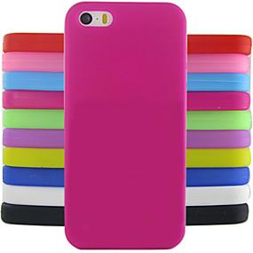 olcso iPhone tokok-Case Kompatibilitás iPhone 5 / Apple iPhone 5 tok Ütésálló Fekete tok Egyszínű Puha Szilikon mert iPhone SE / 5s / iPhone 5