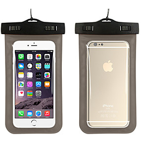 abordables Coques d'iPhone-Coque Pour iPhone 7 / iPhone 6s Plus / iPhone 6 Plus Imperméable / Avec Ouverture Petit sac Couleur Pleine Flexible PC pour
