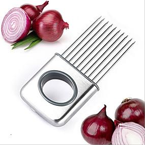 voordelige Keukengerei & Gadgets-roestvrijstalen uiensnijder plantaardig gereedschap tomatensnijder vlees hamstringvork