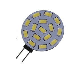 Недорогие Двухконтактные LED лампы-1.5 W Точечное LED освещение 3000-3500/6000-6500 lm G4 MR11 15 Светодиодные бусины SMD 5730 Декоративная Тёплый белый Холодный белый 12 V 24 V / 1 шт. / RoHs