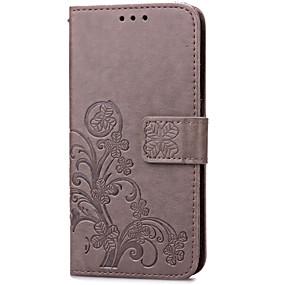 Недорогие Чехлы и кейсы для Galaxy S5 Mini-Кейс для Назначение SSamsung Galaxy S5 Mini / S4 Mini / S3 Mini Кошелек / Бумажник для карт / со стендом Чехол Цветы Кожа PU