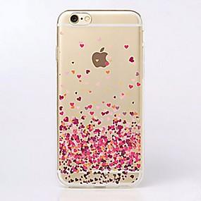 levne Pouzdra iPhone 6s-pouzdro pro Apple iphone xr xs xs max ultra-tenký / průhledný / vzor zadní kryt srdce měkké tpu pro iPhone x 8 8 plus 7 7plus 6s 6s plus se 5 5s