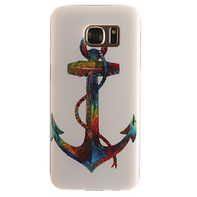 voordelige Galaxy S7 Hoesjes / covers-hoesje Voor Samsung Galaxy S7 edge / S7 / S6 edge Patroon Achterkant Anker Zacht TPU
