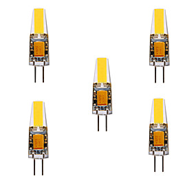 abordables Luces LED de Doble Pin-ywxlight® 5pcs 5w 200-300lm g4 luces led bi-pin cob chip 360 luces de ángulo de haz reemplazar 30w halógeno g4 proyector ac / dc12-24v