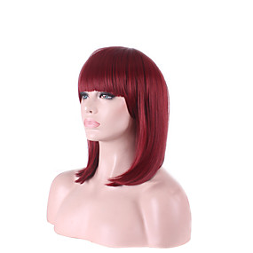 cheap Makeup & Nail Care-afro cheap wine red fuxia color short beautiful women s bob wigs cosplay wig high temperature fiber costume hair Halloween