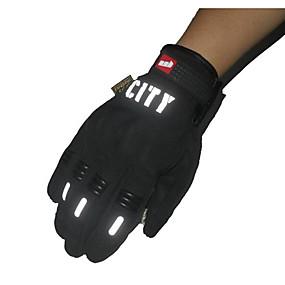 voordelige Motorhoezen-paardrijden volle vingeraanraking handschoenen reflecterende niet-toxisch geurloos anti-slip ademend waterdicht