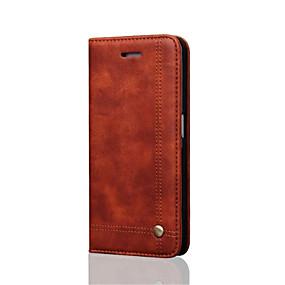 levne Galaxy S pouzdra / obaly-Carcasă Pro Samsung Galaxy Samsung Galaxy S7 Edge Peněženka / Pouzdro na karty / se stojánkem Celý kryt Jednobarevné Pevné Pravá kůže pro S7 edge / S7
