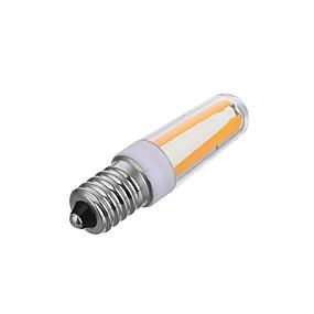 Χαμηλού Κόστους Λαμπτήρες LED με νήμα πυράκτωσης-1pc 4 W LED Λάμπες Πυράκτωσης 200-300 lm E14 T 4 LED χάντρες COB Με ροοστάτη Διακοσμητικό Θερμό Λευκό Ψυχρό Λευκό 220-240 V / 1 τμχ / RoHs
