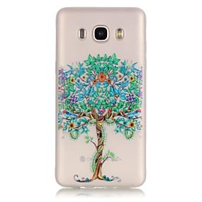 voordelige Galaxy J3 Hoesjes / covers-hoesje Voor Samsung Galaxy J7 (2016) / J5 (2016) / J3 Glow in the dark / Transparant Achterkant Boom Zacht TPU