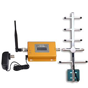 cheap Mobile Signal Boosters-LCD GSM980 Display Mini GSM 900MHz Mobile Phone Signal Booster 900MHz Signal Repeater  Yagi Antenna with 10m Cable