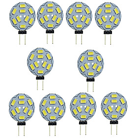 abordables Luces LED de Doble Pin-10pcs 1.5 W Luces LED de Doble Pin 150-200 lm G4 T 9 Cuentas LED SMD 5730 Decorativa Blanco Cálido Blanco Fresco 12 V / 10 piezas / Cañas