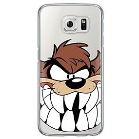 voordelige Galaxy S6 Edge Plus Hoesjes / covers-hoesje Voor Samsung Galaxy S7 edge / S7 / S6 edge plus Ultradun / Doorzichtig Achterkant Cartoon Zacht TPU