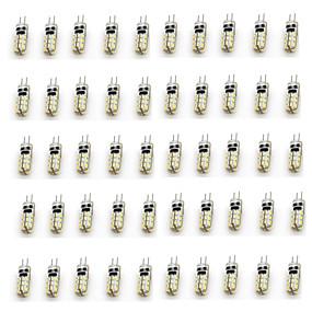 abordables Luces LED de Doble Pin-50pcs 2 W Luces LED de Doble Pin 90-110 lm G4 T 24 Cuentas LED SMD 3014 Decorativa Blanco Cálido Blanco Fresco 12 V / Cañas
